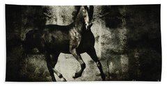 Galloping Horse Artwork Hand Towel