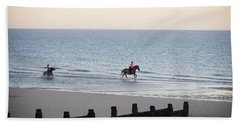 Galloping On The Beach  Bath Towel