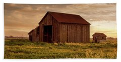 Galt Barn At Sunset Hand Towel