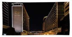 Hand Towel featuring the photograph Galt House Hotel And Suites At Night by Randy Scherkenbach