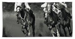 Gambling Horses Bath Towel