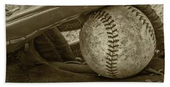 Game Ball Hand Towel by Bill Cannon