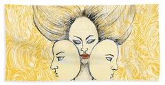 Game Of Masks Bath Towel by Nareeta Martin
