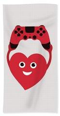 Gamer Heart Hand Towel