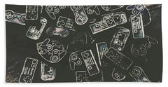 Gamers Of Arcade  Bath Towel