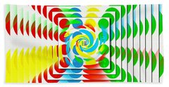 Games - Twister 2 - Kaleidoscope Hand Towel