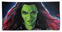 Gamora Hand Towel by Tom Carlton