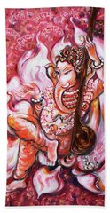 Ganesha - Enjoying Music Bath Towel
