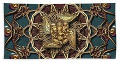 Bath Towel featuring the digital art Ganpati Mandala  by Robert Thalmeier