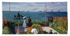 Garden At Sainte Adresse By Claude Monet Bath Towel