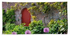 Garden Door - Paint With Canvas Texture Hand Towel