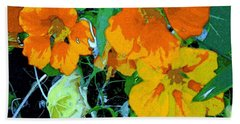 Hand Towel featuring the digital art Garden Flavor by Winsome Gunning