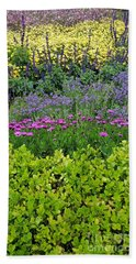 Bath Towel featuring the photograph Garden Flowers Layers by Jasna Gopic