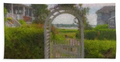 Garden Gate Falmouth Massachusetts Bath Towel