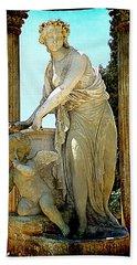 Hand Towel featuring the photograph Garden Goddess by Lori Seaman