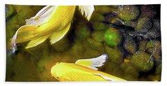 Garden Goldenfish Hand Towel