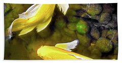 Garden Goldenfish Hand Towel