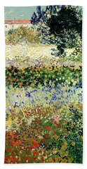 Bath Towel featuring the painting Garden In Bloom by Van Gogh