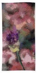 Hand Towel featuring the mixed media Garden Of Love by Trish Tritz