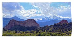 Garden Of The Gods Hand Towel by Catherine Sherman