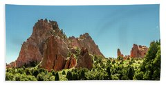 Hand Towel featuring the photograph Garden Of The Gods II by Bill Gallagher