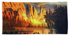 Garden Of The Gods Majesty At Sunset 2 Bath Towel by John Hoffman