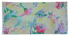 Garden Party Floorcloth Hand Towel by Judith Espinoza