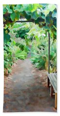 Garden Path Bath Towel by Pamela Walton