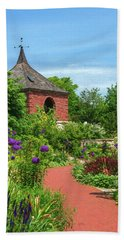 Hand Towel featuring the photograph Garden Path by Trey Foerster