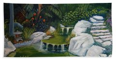 Garden Retreat Hand Towel by Jeanette Jarmon