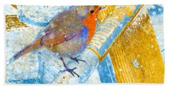 Garden Robin Bath Towel by LemonArt Photography