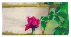 Bath Towel featuring the digital art Garden Rose by Holly Ethan