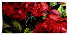 Garden Roses Hand Towel
