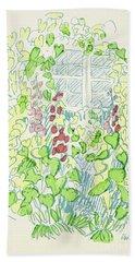 Garden Sketch Hand Towel