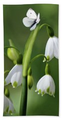 Hand Towel featuring the photograph Garden Snowdrops by Nina Bradica