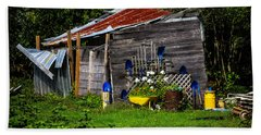 Garden Tool Shed Hand Towel