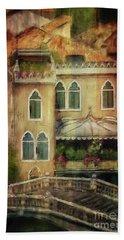 Bath Towel featuring the digital art Gardening Venice Style by Lois Bryan