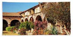 Gardens Of San Juan Capistrano Hand Towel by James Kirkikis