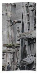 Gargoyles North Notre Dame Hand Towel