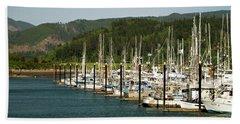 Garibaldi Oregon Marina Bath Towel