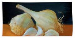 Garlic 01 Bath Towel by Wally Hampton