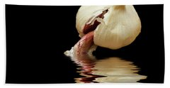 Hand Towel featuring the photograph Garlic Cloves Of Garlic by David French