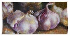 Garlic Painting Bath Towel