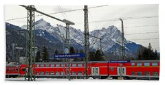 Garmisch-partenkirchen In Winter Bath Towel