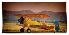 Gary Peters Boeing Stearman Kaydet 2016 Planes Of Fame Version 2 Bath Towel
