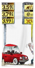 Gas Price Curse Bath Towel