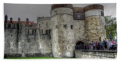 Gates To The Tower Of London Hand Towel