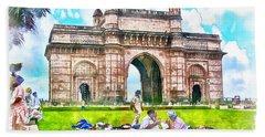Gateway Of India Bath Towel
