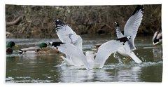 Gathering Of Egrets Hand Towel