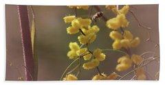 Gathering Pollen Bath Towel by Cassandra Buckley